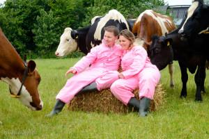 fotoshoot op de boerderij, fotoshoot, tussen de koeien, fotografie, vriendinnenuitje, zussenuitje,